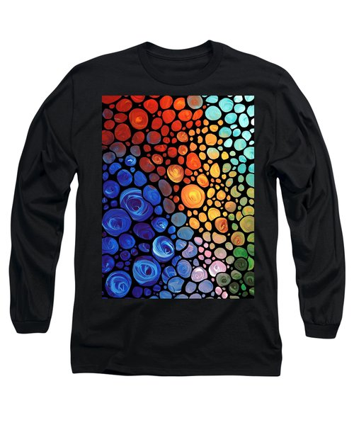 Abstract 1 - Colorful Mosaic Art - Sharon Cummings Long Sleeve T-Shirt