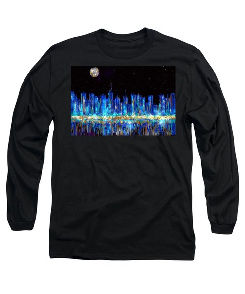 Abstract City Skyline Long Sleeve T-Shirt