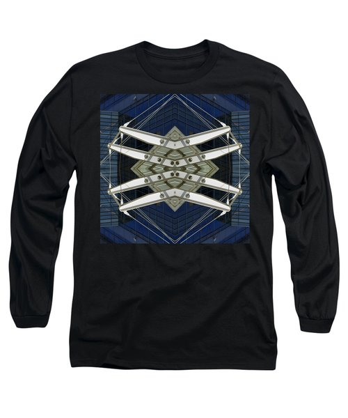 Abstract Construction Long Sleeve T-Shirt