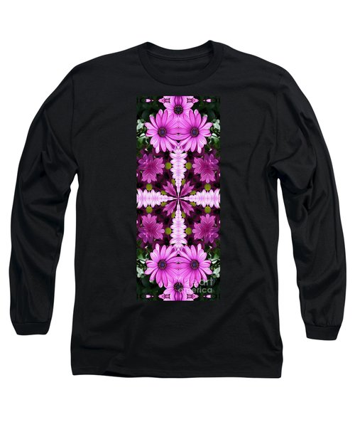 Long Sleeve T-Shirt featuring the digital art Abstract Daisies by Smilin Eyes  Treasures