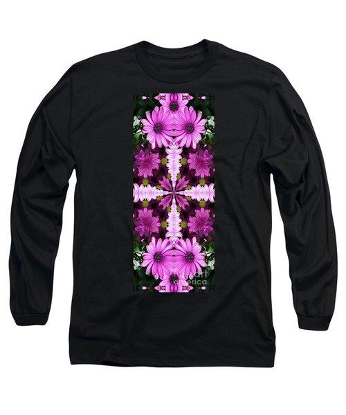 Abstract Daisies Long Sleeve T-Shirt