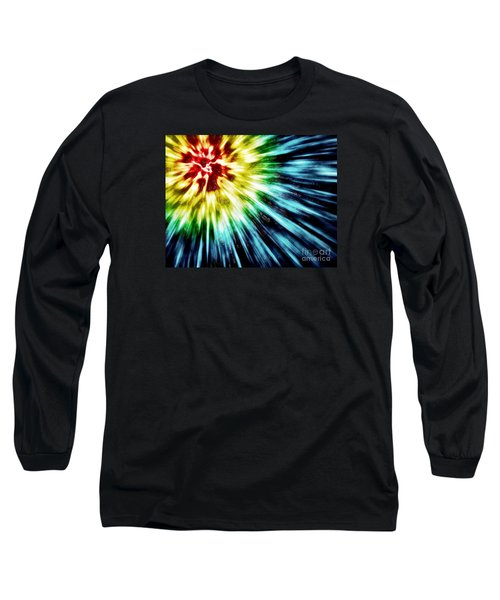 Abstract Dark Tie Dye Long Sleeve T-Shirt