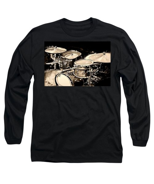 Abstract Drum Set Long Sleeve T-Shirt