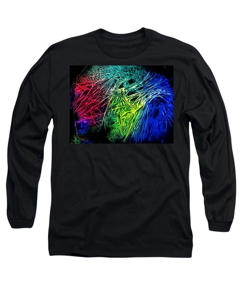 Abstract Experimental Chemiluminescent Photography Long Sleeve T-Shirt