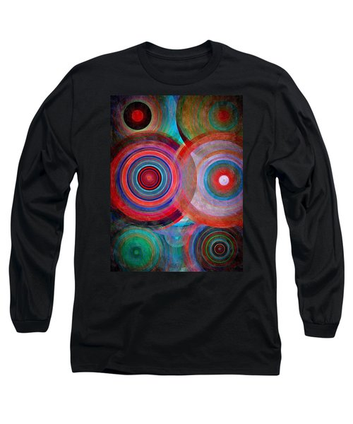 Long Sleeve T-Shirt featuring the mixed media Abstract In Silk  by Gabriella Weninger - David