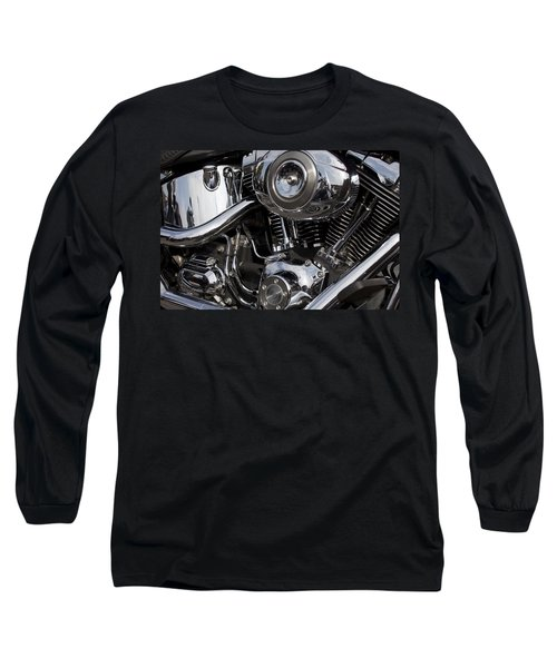 Abstract Motorcycle Engine Long Sleeve T-Shirt