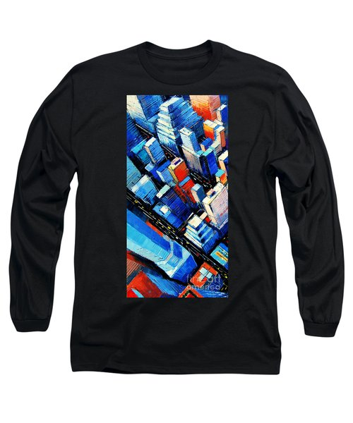 Abstract New York Sky View Long Sleeve T-Shirt