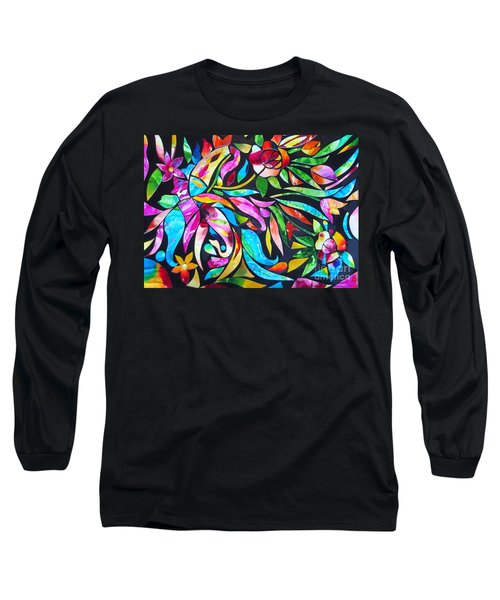Abstract Paisley And Flowers Long Sleeve T-Shirt