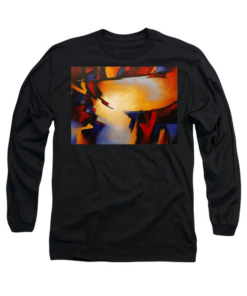 Abstract Red Blue Yellow Long Sleeve T-Shirt