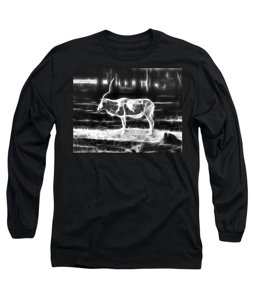 Addax Spirit Of The Desert Long Sleeve T-Shirt by Miroslava Jurcik