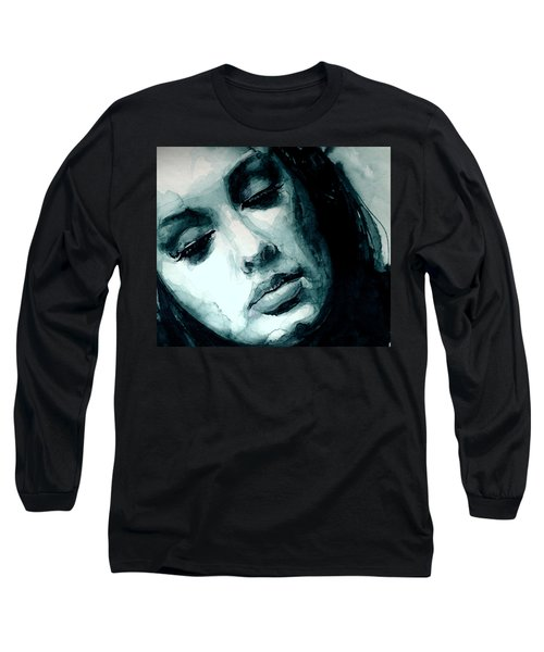 Adele In Watercolor Long Sleeve T-Shirt by Laur Iduc