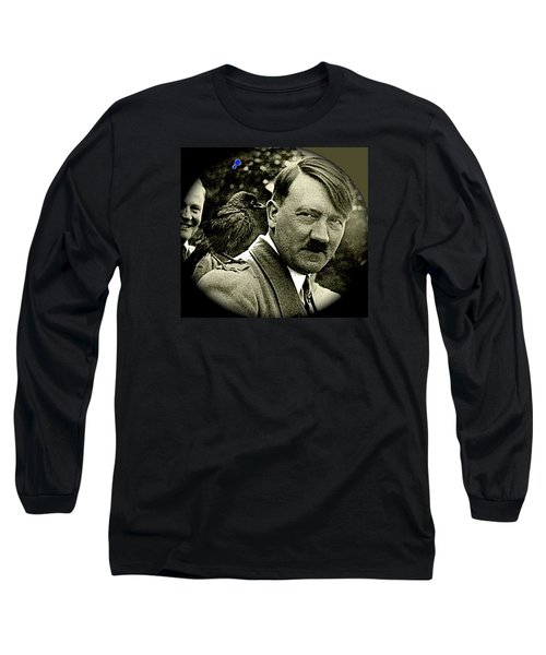 Adolf Hitler And A Feathered Friend C.1941-2008 Long Sleeve T-Shirt by David Lee Guss