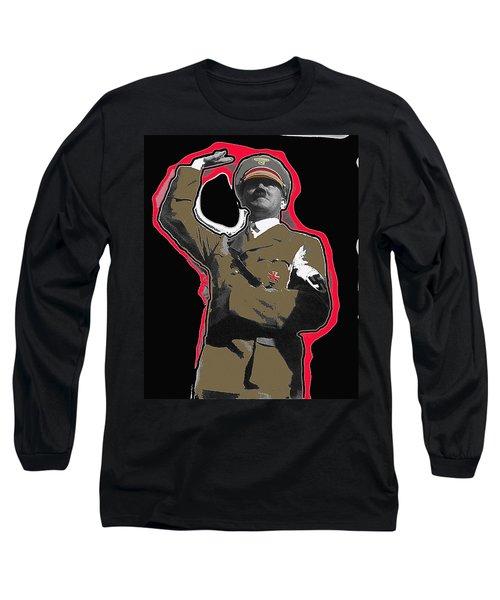 Adolf Hitler Saluting 2 Circa 1933-2009 Long Sleeve T-Shirt by David Lee Guss