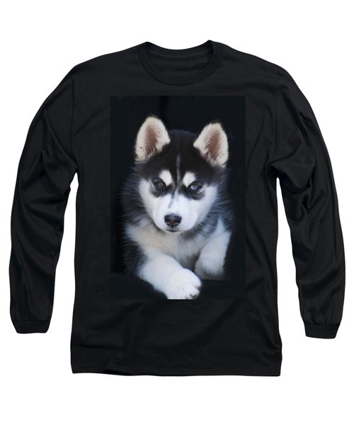 Adorable Siberian Husky Sled Dog Puppy Long Sleeve T-Shirt