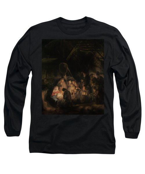 Adoration Of The Shepherds, 1646 Oil On Canvas Long Sleeve T-Shirt