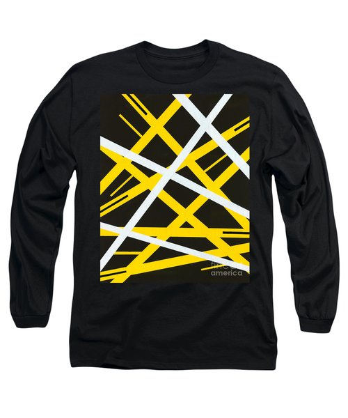 Long Sleeve T-Shirt featuring the painting Aeons by Roz Abellera Art