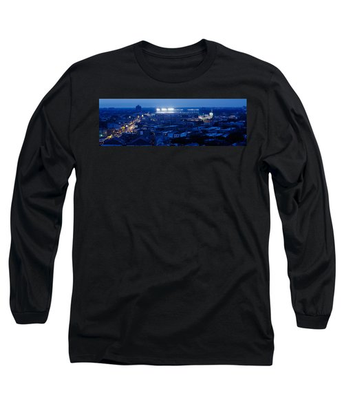 Aerial View Of A City, Wrigley Field Long Sleeve T-Shirt by Panoramic Images