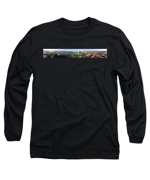 Aerial Washington Dc Usa Long Sleeve T-Shirt by Panoramic Images