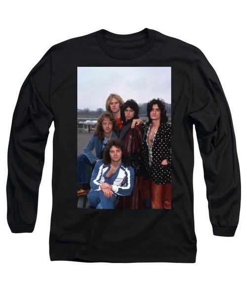 Aerosmith - Terre Haute 1977 Long Sleeve T-Shirt by Epic Rights