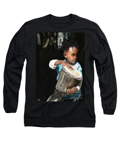 African Drummer Boy Long Sleeve T-Shirt