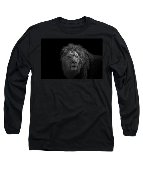 Long Sleeve T-Shirt featuring the photograph African Lion by Peter Lakomy
