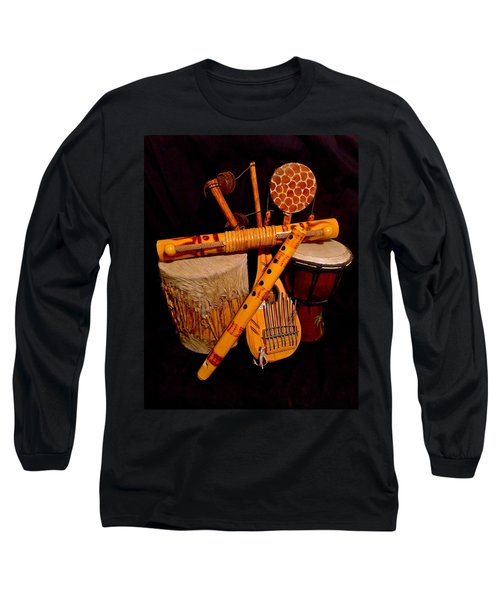 African Musical Instruments Long Sleeve T-Shirt