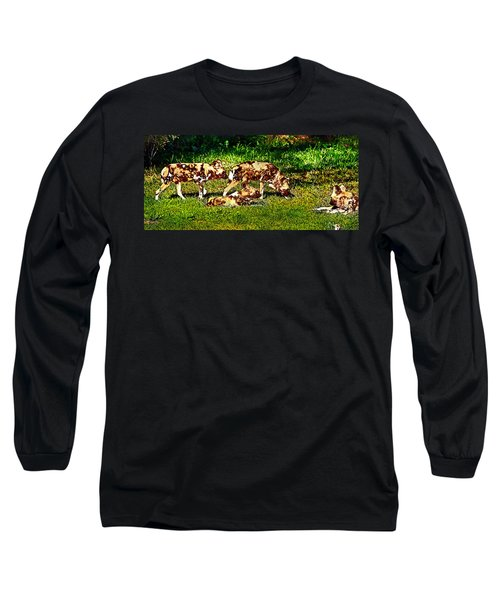 African Wild Dog Family Long Sleeve T-Shirt