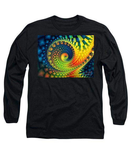 After The Rain-fractal Art Long Sleeve T-Shirt