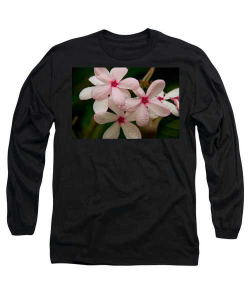 After The Rain - Pink Plumeria Long Sleeve T-Shirt