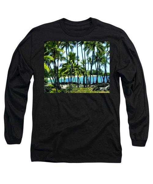Afternoon At Kakaha Kai Long Sleeve T-Shirt