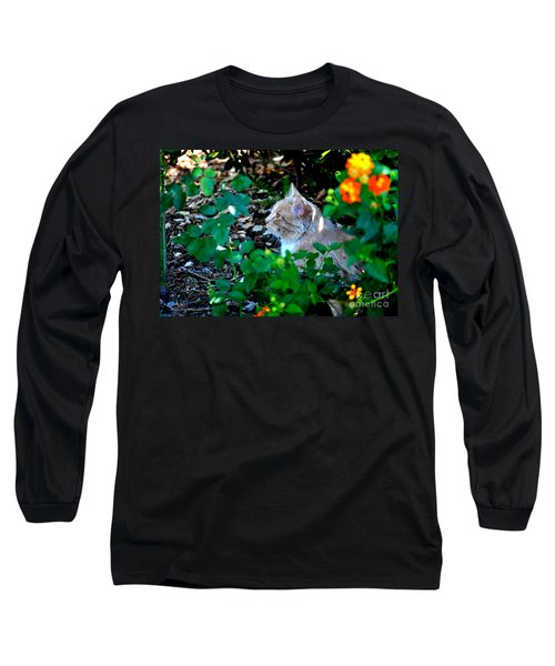 Long Sleeve T-Shirt featuring the photograph Afternoon Nap Interrupted by Susan Wiedmann