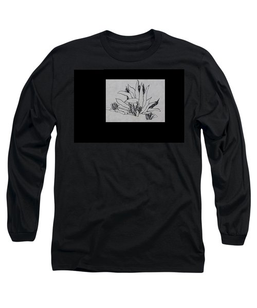 Long Sleeve T-Shirt featuring the painting Agave by Erika Chamberlin