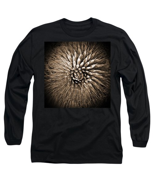 Agave Spikes Sepia Long Sleeve T-Shirt