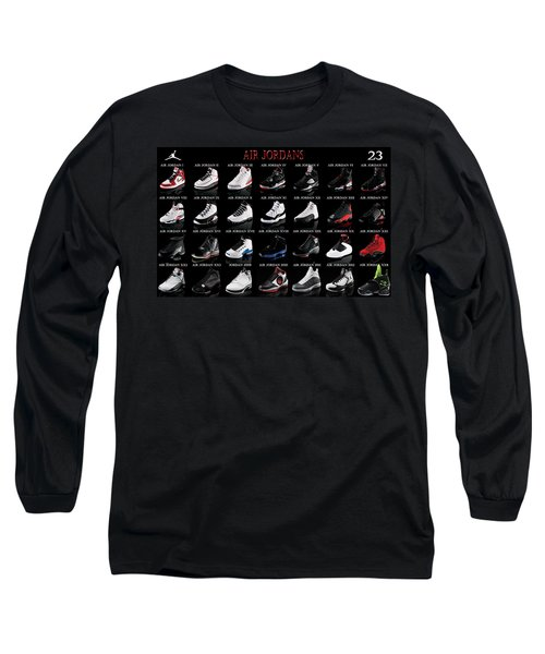 Air Jordan Shoe Gallery Long Sleeve T-Shirt by Brian Reaves