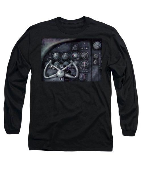 Air - The Cockpit Long Sleeve T-Shirt by Mike Savad