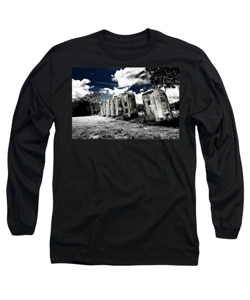 Airstream Ranch In Ir Hdr Long Sleeve T-Shirt by Michael White