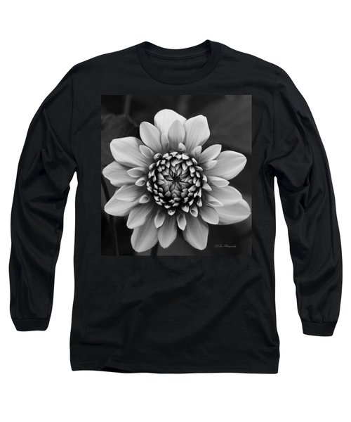 Ala Mode Dahlia In Black And White Long Sleeve T-Shirt