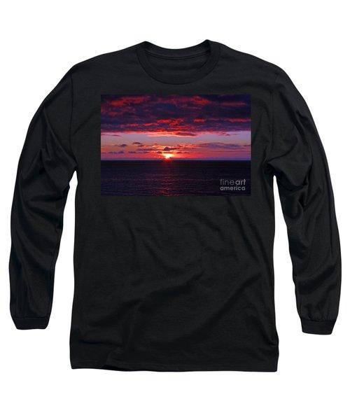 Alaskan Sunset Long Sleeve T-Shirt by Bob Hislop