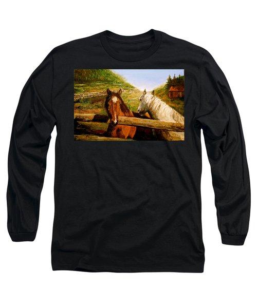 Alberta Horse Farm Long Sleeve T-Shirt