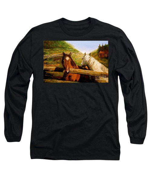 Alberta Horse Farm Long Sleeve T-Shirt