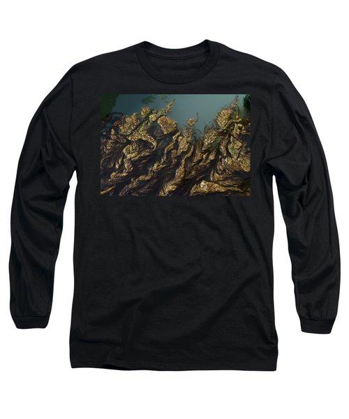 Algae Long Sleeve T-Shirt by Ron Harpham