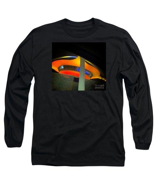 Alien Space Ship Landed Long Sleeve T-Shirt by Susan Garren