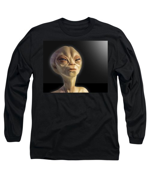 Alien Yearbook Photo Long Sleeve T-Shirt