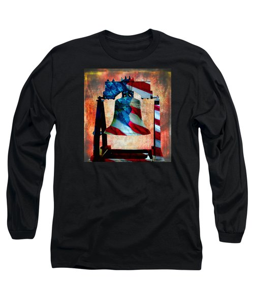 Liberty Bell Art Smooth All American Series Long Sleeve T-Shirt by Lesa Fine