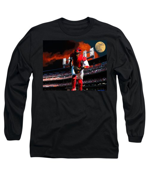 Long Sleeve T-Shirt featuring the photograph All Star Yadier Molina by John Freidenberg