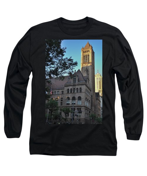 Long Sleeve T-Shirt featuring the photograph Allegheny County Courthouse by Steven Richman