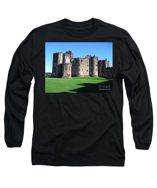 Long Sleeve T-Shirt featuring the photograph Alnwick Castle Castle Alnwick Northumberland by Paul Fearn