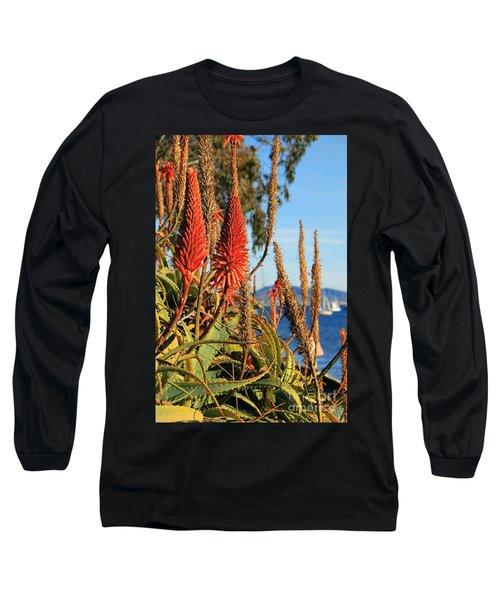 Aloe Vera Bloom Long Sleeve T-Shirt by Mariola Bitner
