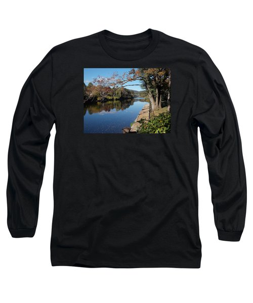 Along The River In Shelbourne Falls Long Sleeve T-Shirt