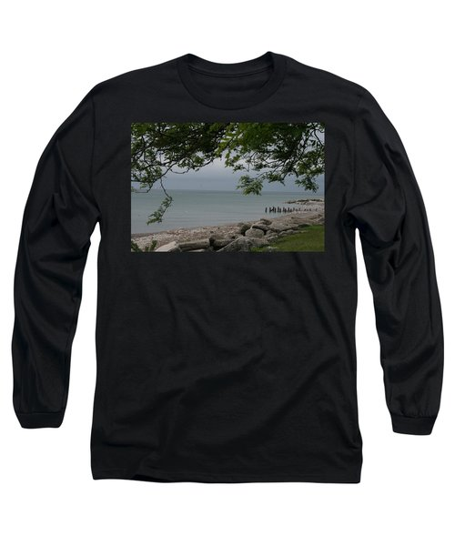 Long Sleeve T-Shirt featuring the photograph Along The Shore by Kay Novy